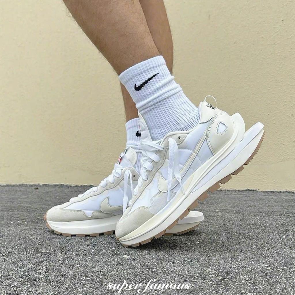 限量優惠 Sacai x Nike Vaporwaffle 聯名 奶油白 黑色 解構 白 米白 白帆 生膠 雙勾 慢跑鞋