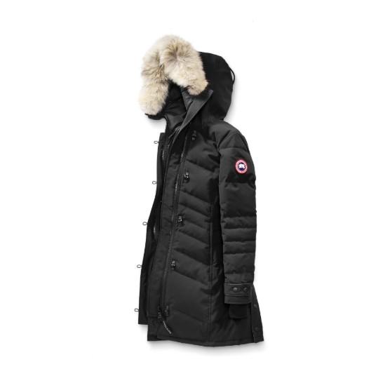 CANADA GOOSE 加拿大鵝 Fusion Fit 版 Lorette 派克大衣 共兩色黑/深藍 羽絨外套