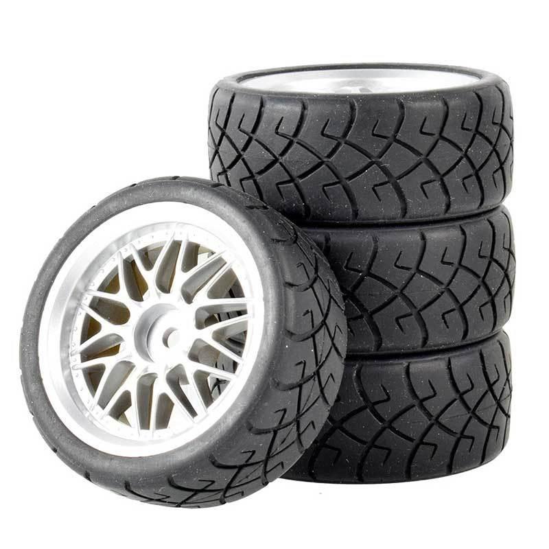1:10 RC模型車競速輪胎64MM 94123田宮TT01 FW06房車D4D3平跑輪胎抓地胎