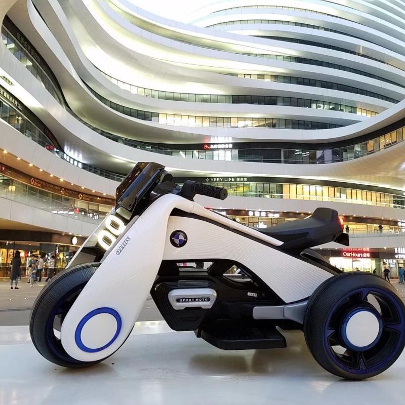 推薦款抖音同款史努比電動摩托車颶風兒童電動摩托車寶寶小孩玩具車充電