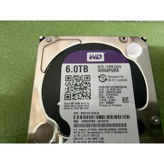WD 60PURZ 6T 6TB 紫標 監控碟 64M3.5吋 SATA3 內接硬碟 過保2手良品