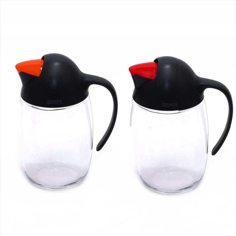 【仙德曼】自動開口企鵝油壺(620ml)-共2色 露營 野炊 野餐《屋外生活》