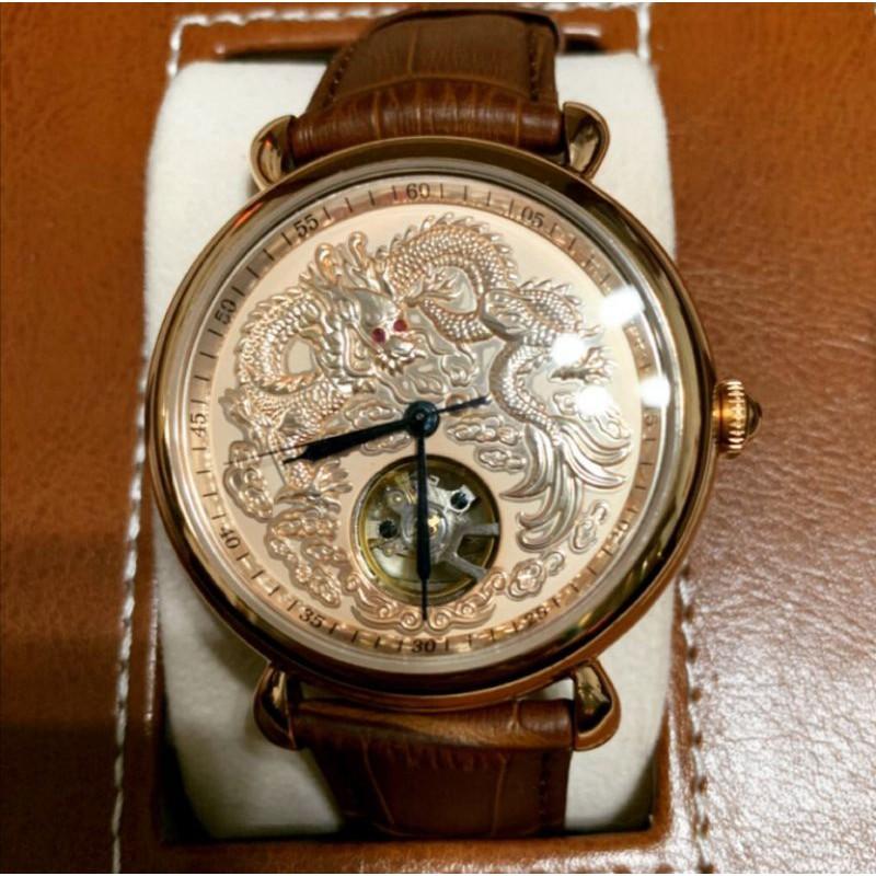 [黑錶帶] 全新 Manlike 龍行天下限量機械錶