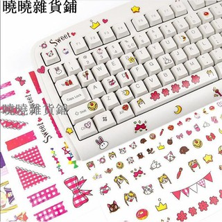 ✨創意鍵盤貼 臺式機筆記本電腦機械鍵盤美少女貼紙字母按鍵貼個性104鍵87鍵108 61鍵鍵盤貼貼膜鍵盤按鍵貼貼 高雄市