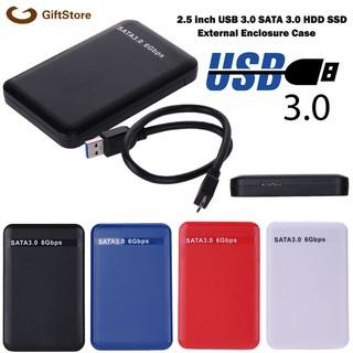 2.5 英寸 Usb 3.0 Sata 硬盤驅動器外部機箱 3tb 6gbps Hdd Ssd 磁盤盒 G S