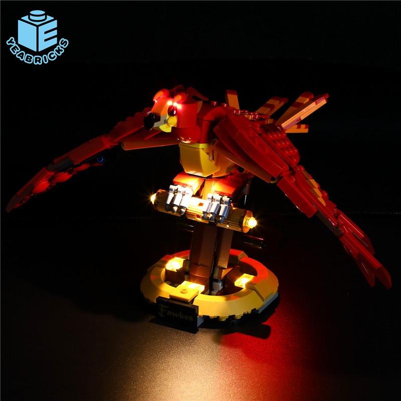 Maomao8911-YB兼容樂高哈利波特76394鄧布利多的鳳凰福克斯led燈飾積木燈光**