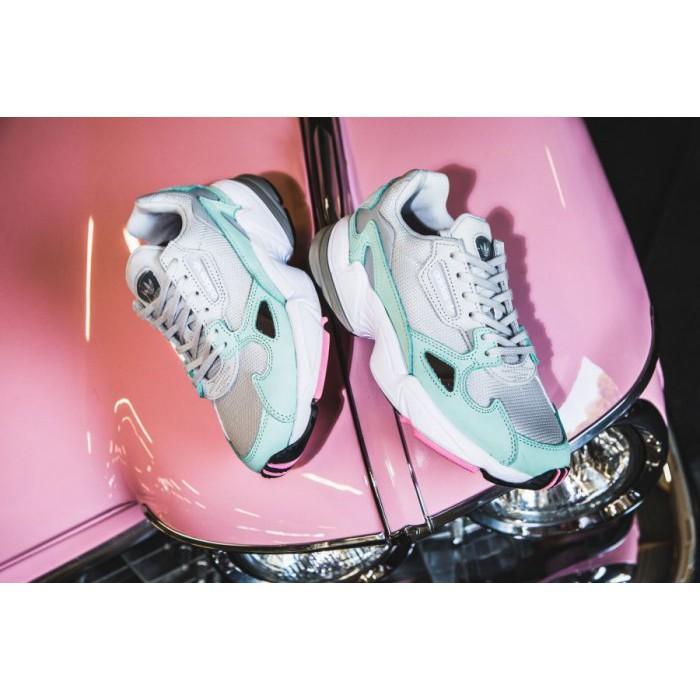 ADIDAS ORIGINALS FALCON 灰 綠 粉 麂皮 復古 老爹鞋 B28127 女鞋