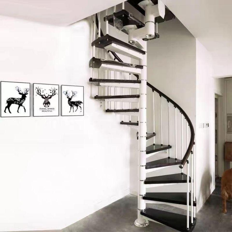 中柱旋轉樓梯閣樓復式樓家用室內戶外圓梯別H墅躍層鐵樓梯整體定制