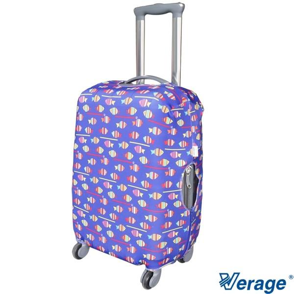 英國維麗杰 Verage 彈性花樣行李箱保護套 - 海洋魚 VG-5901
