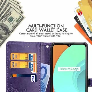 OPPO Realme C11翻蓋手機殼適用於OPPO Realme C11 Coque Caso磁性錢包卡套