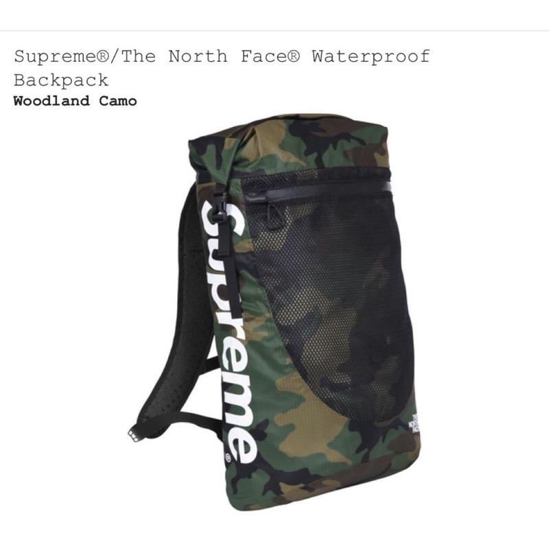 全新正品 2017 SUPREME X THE NORTH FACE 迷彩 防水後背包 付吊牌 現貨 backpack