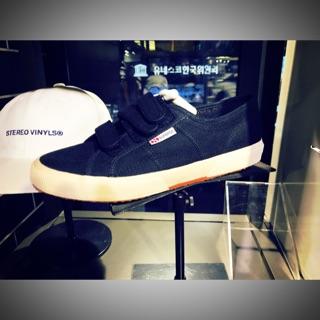 SUPERGA 義大利時尚帆布鞋 /  Classic 2750 - Strap 魔鬼氈款 黑 42號 臺中市