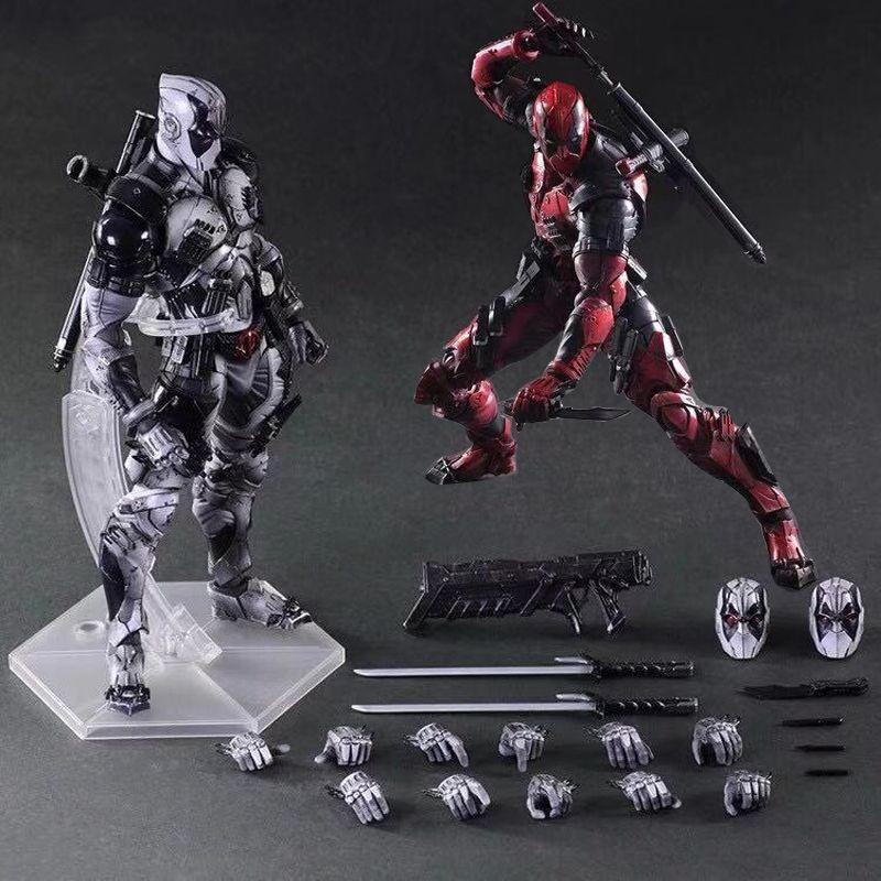 X戰警 Play Arts 改 死侍 小賤賤 Deadpool PA改 死侍 可動手办模型摆件玩具人偶