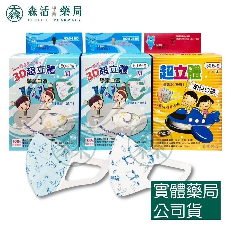 藥局💊現貨_[北極熊] 3D立體醫用口罩 學童/幼童口罩 台灣製