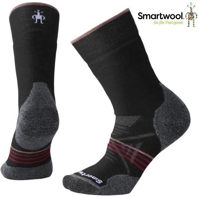 Smartwool 羊毛襪/保暖襪子/美麗諾羊毛 女款 PhD戶外中級減震中長襪 SW001064 A62黑/酒紅