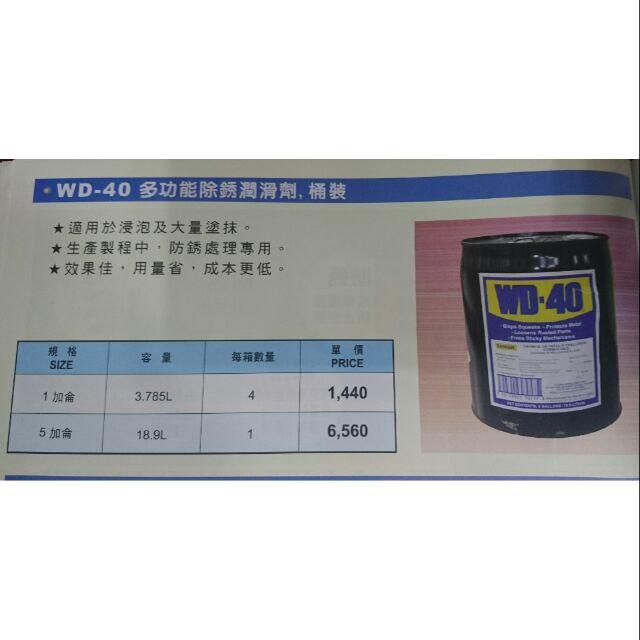 【棒棒腿五金】(附發票)WD-40 防銹潤滑油 防鏽潤滑油 5加侖桶裝