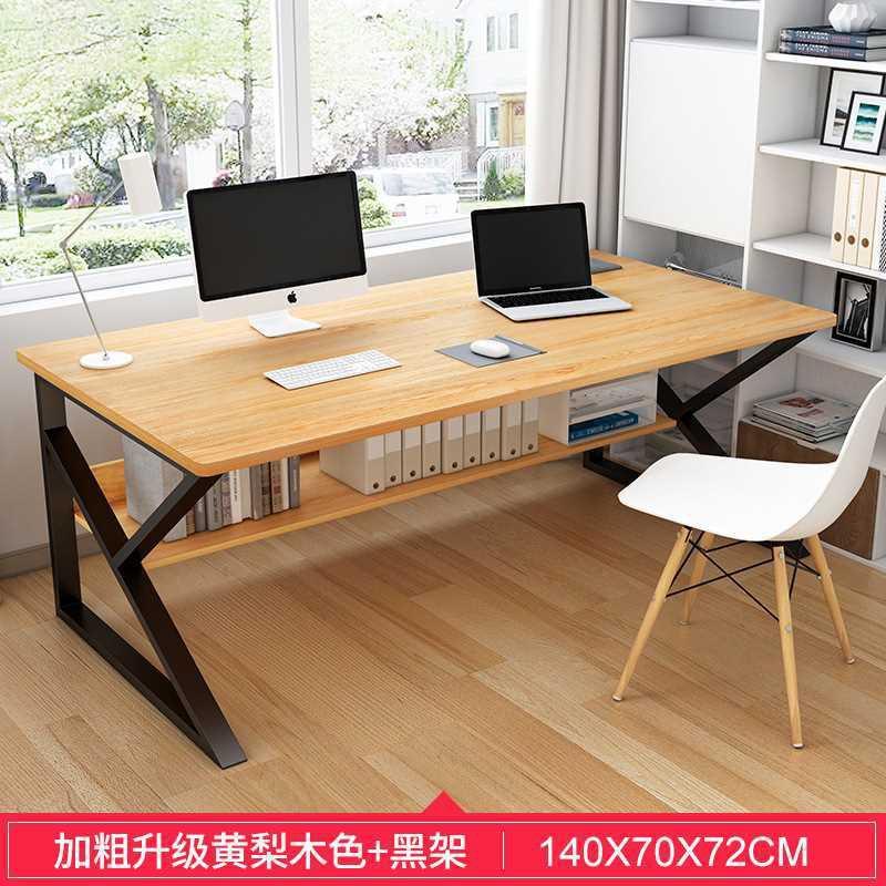 帶書架雙層辦公電腦桌長80 100 120 140寬40 48 52 60 70學習書桌