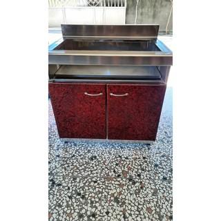 [二手廚具] [彰化] 美耐板門板活動式瓦斯爐台 (嵌入瓦斯爐規格通用)(自取) 彰化縣