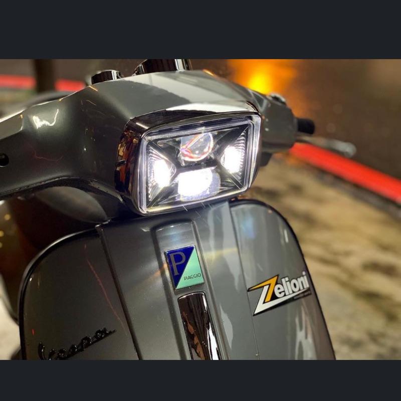 [ Morris Vespa ] Zelioni LED 大燈 Vespa S 模組大燈 魚眼大燈 一體式魚眼