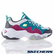 SKECHERS 思克威爾 女款 D'LITES 3.0 老爹鞋 白綠 12955TQPK