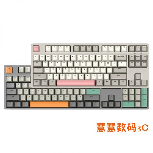 【限時下殺】ikbc復古系列機械鍵盤櫻桃cherry87紅茶青軸有線W210無線 T3Va