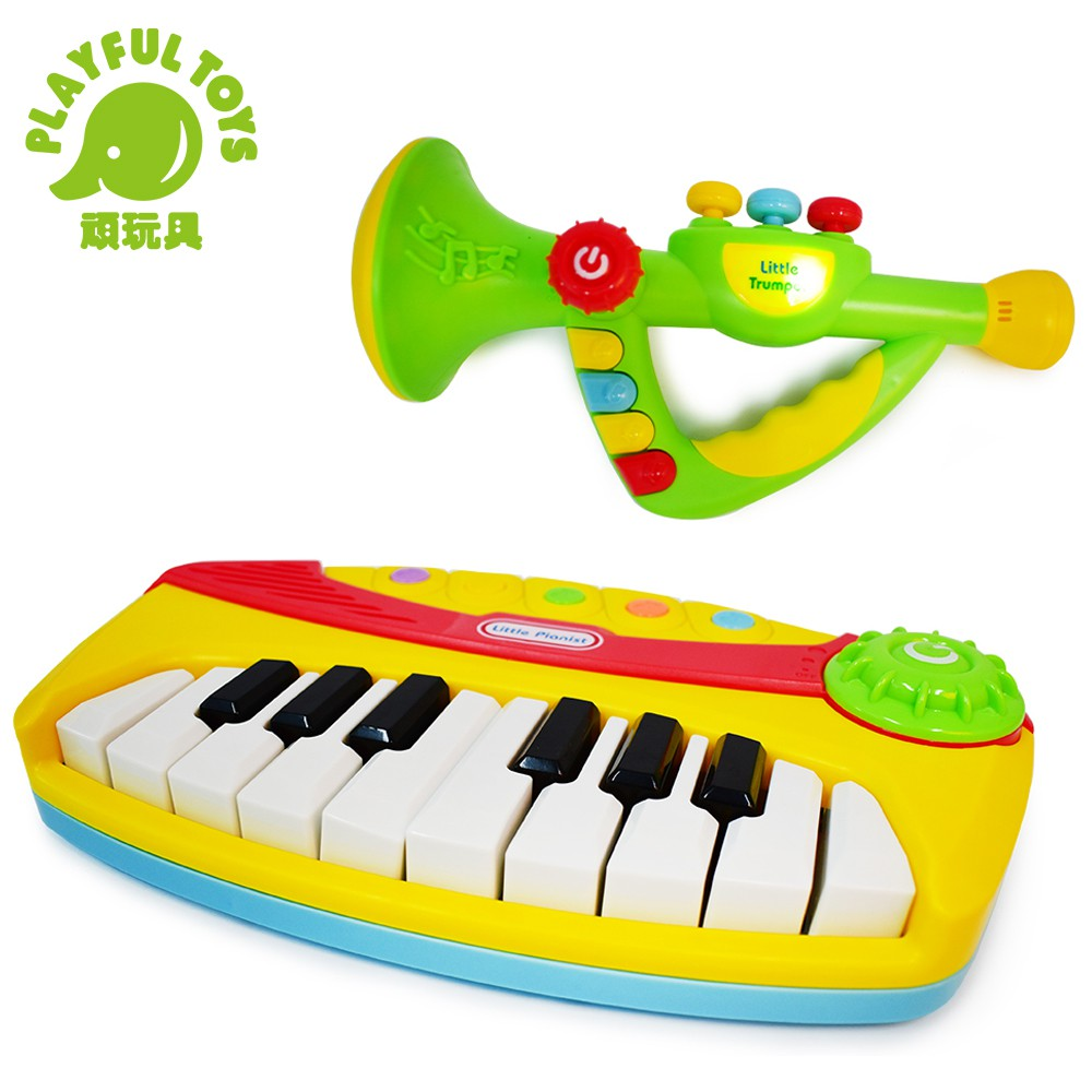 【Playful Toys 頑玩具】電子琴+電子喇叭組合(鋼琴 音樂 節奏 琴鍵 仿真樂器 早教玩具)