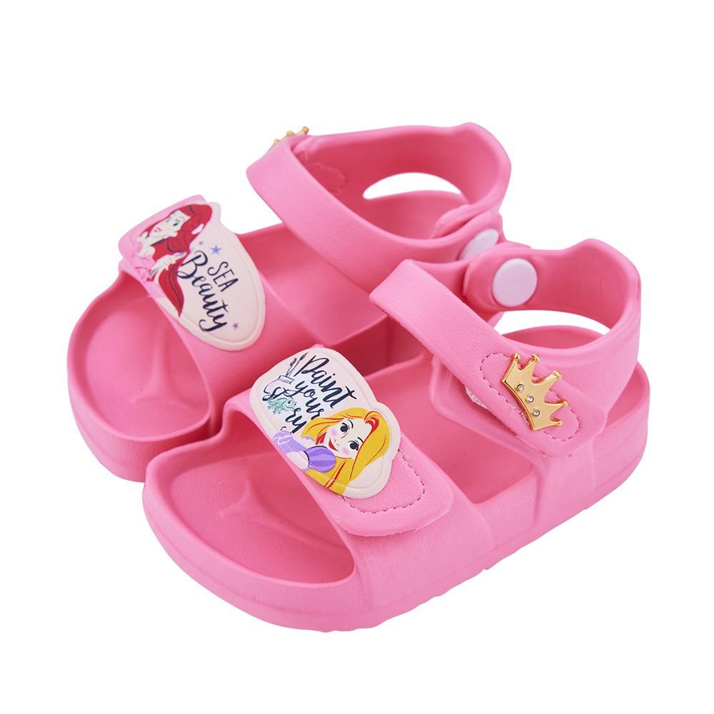 迪士尼童鞋  公主  立體造型防水涼鞋-粉