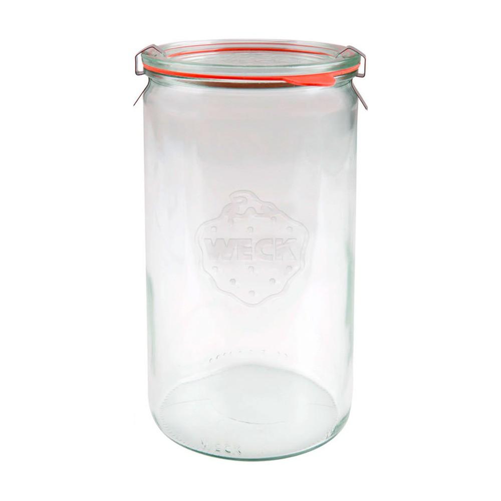 德國 Weck 974 玻璃罐 (附玻璃蓋+密封圈L) Straight Jar 1590ml (WK021)