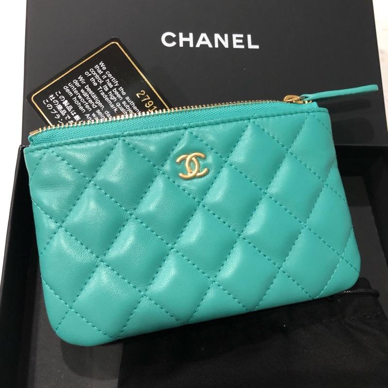 Chanel 一字拉鍊 零錢包