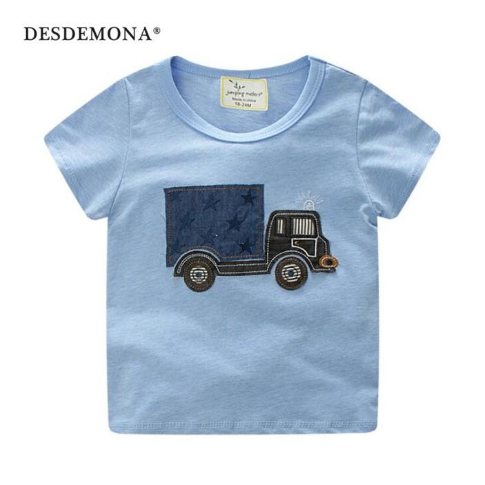 童裝 純棉圓領兒童T恤 小男孩上衣 男童卡通T恤 兒童T恤 卡通印花短袖T恤 短袖上衣 嬰幼童童裝 [DM商城]