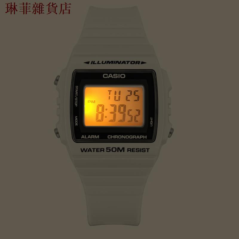 卡西歐CASIO小方塊手表女男白色中性學生情侶女表w215h/w218/f91w手錶 男錶 女錶 情侶錶 電子錶1