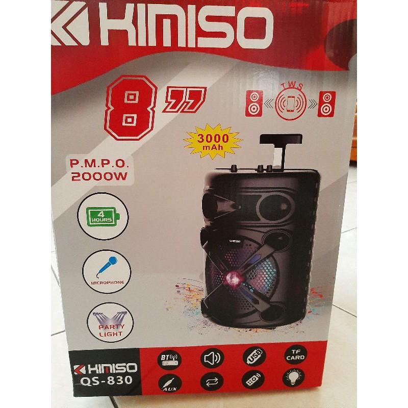 KIMISO QS-830 戶外藍芽喇叭音響音箱 附麥克風 遙控器 擴大機