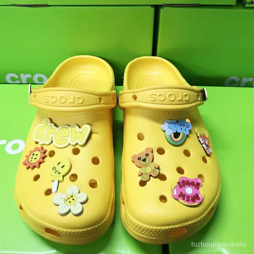 女鞋 洞洞  拖鞋      house比伯同款男鞋休閒鞋鞋 涼鞋Drew