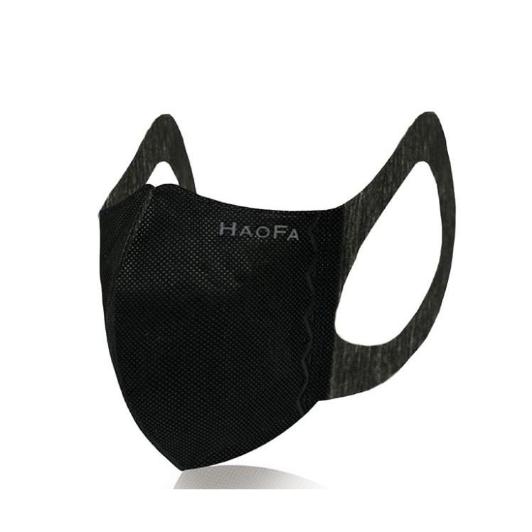 【HAOFA】3D 無痛感立體口罩 (四層黑色成人款/50片盒裝)