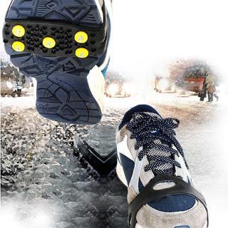 新款戶外5釘鞋套防滑冰爪 簡易城市冰爪雪地冰雪路面防滑腳套5齒
