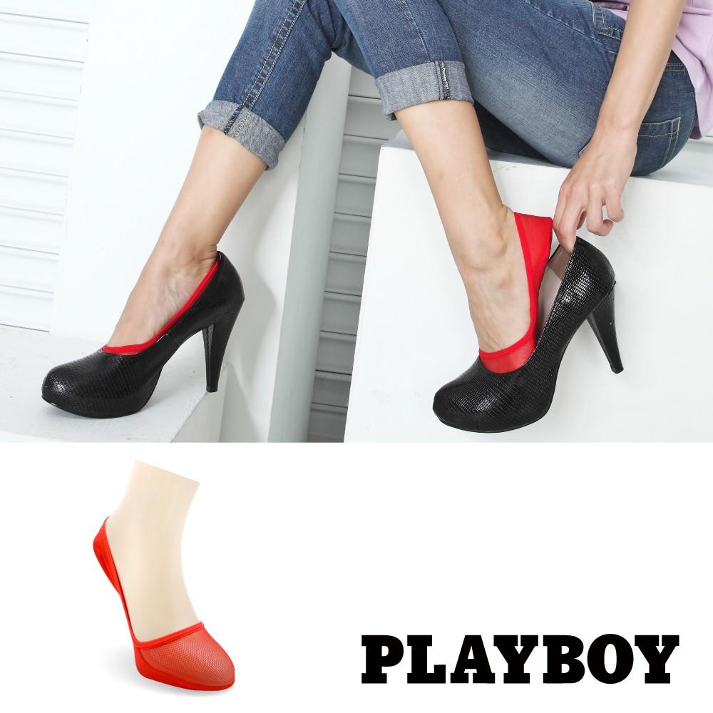 【PLAYBOY】時尚護足隱形氣墊襪│襪子│隱形襪│女襪│襪套│氣墊底│高跟鞋