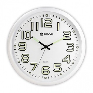 【KINYO 】【可免運費卷】 CL-127 12吋夜光靜音掛鐘 鬧鐘 螢光顯式大數字 掃描 嘉義縣