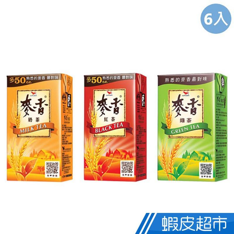 統一 麥香紅茶/奶茶/綠茶 (300mlx6入) 現貨 蝦皮直送
