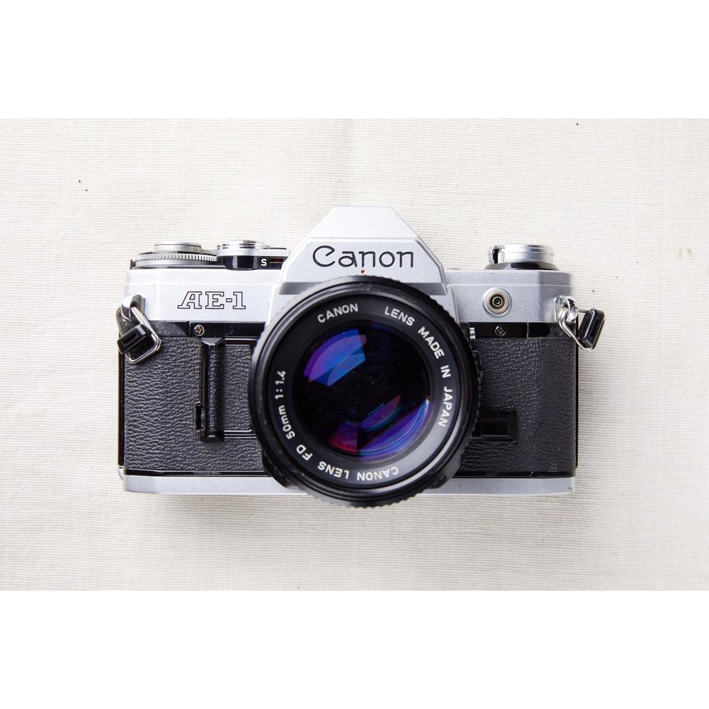【森寫真機店】Canon AE-1銀色 + new FD 50mmF1.4 #812