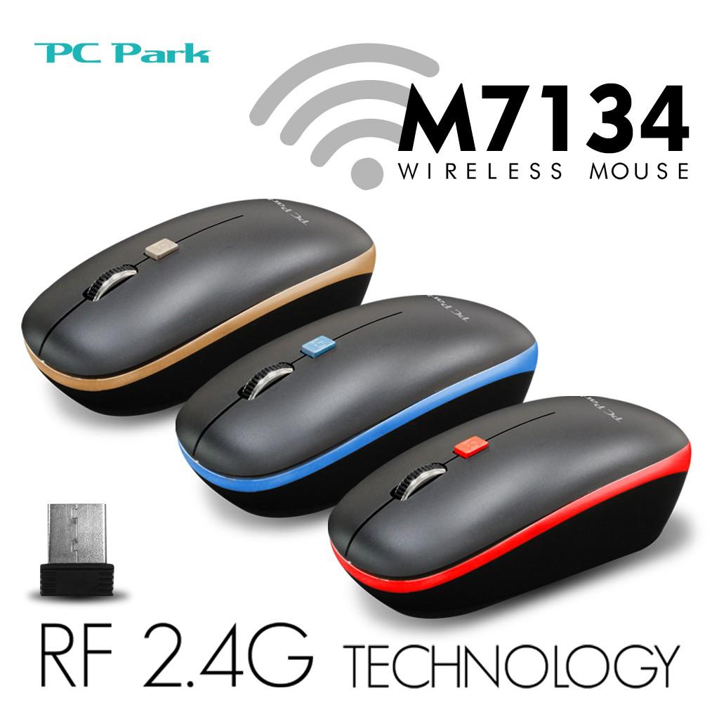 PC Park M7134BR 商務型無線滑鼠 三色