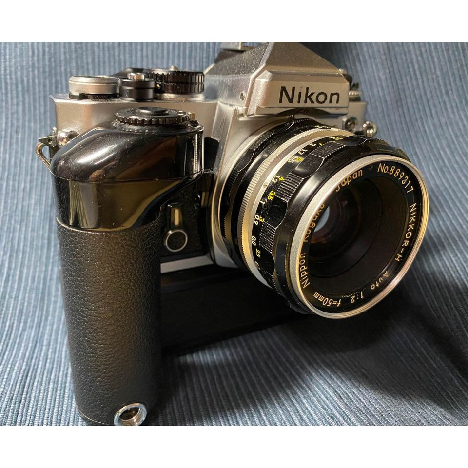日本購入 售全套 NIKON FE+MD-12電動手把和Nikkor-H auto Non-AI 50mm F2 定焦鏡