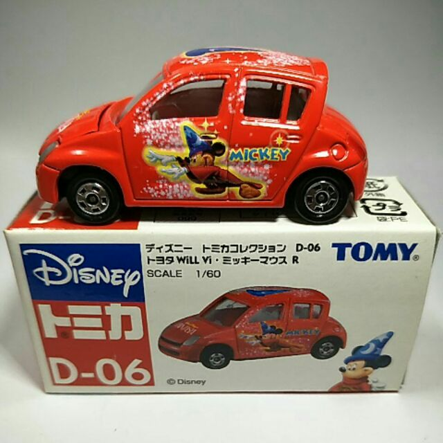 33絕版舊藍標Tomy tomica D-06toyoya Vi紅色魔法米奇車