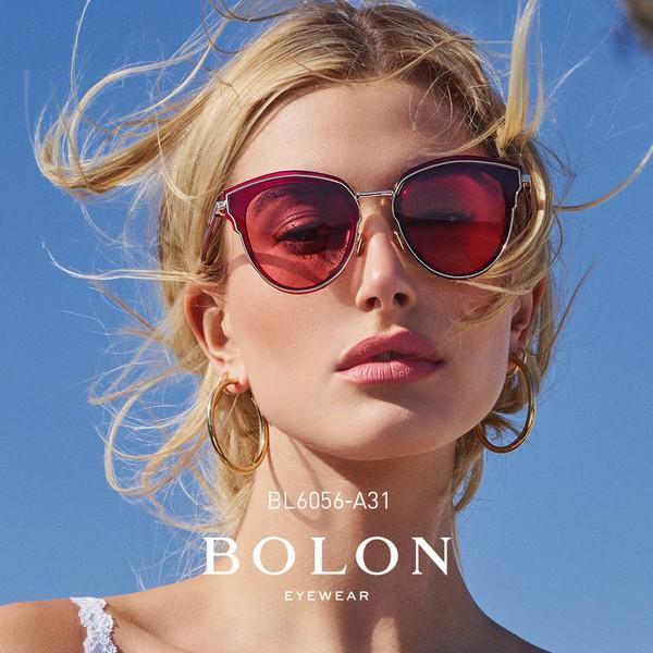【BOLON 暴龍】貓眼大框太陽眼鏡 超模代言款 BL6056
