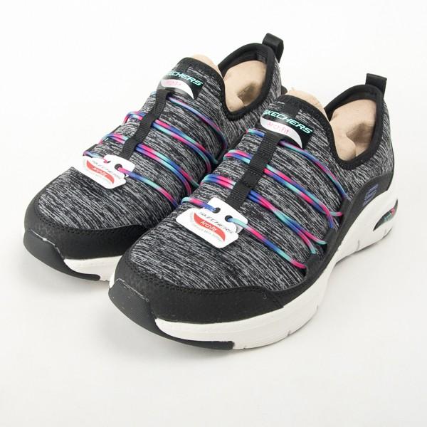 Skechers  女 休閒系列 ARCH FIT 休閒運動鞋-黑 免綁帶 149061BKMT  現貨