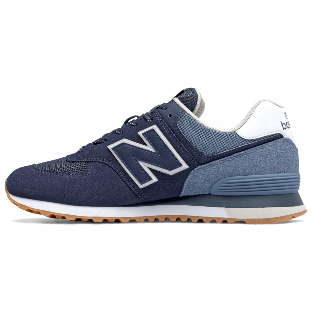 NEW BALANCE 深藍 男 麂皮 休閒 復古鞋 ML574GRE