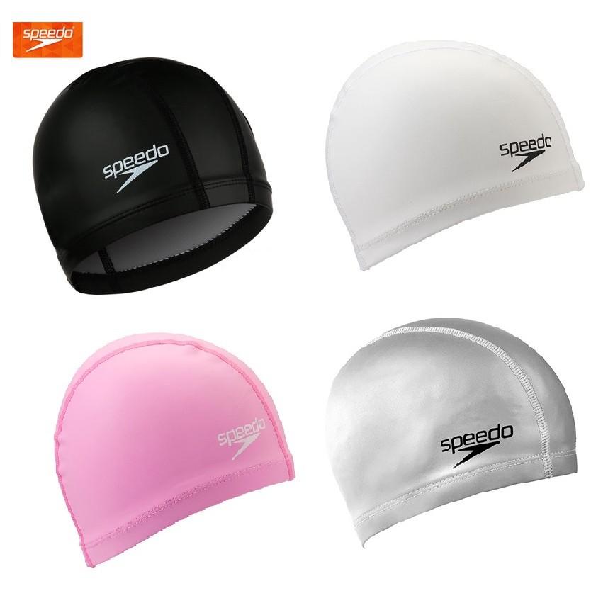 ~有氧小舖~ SPEEDO 男/女 特殊矽膠泳帽 合成帽 (布帽的舒適又能減少浸水) 現貨熱賣推薦款