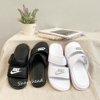 【Sharkhead】現貨 Nike Duo Ultra 黑白 雙帶拖鞋 運動拖鞋 涼鞋 819717-100 拖鞋 白