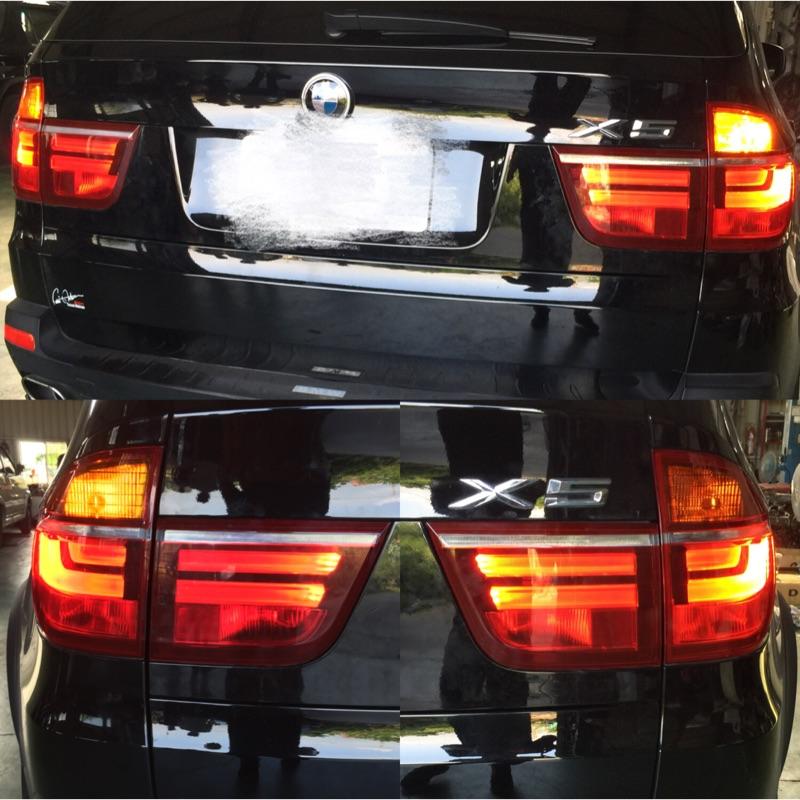 感謝北部朋友支持 BMW X5 E70 導光 尾燈 大燈