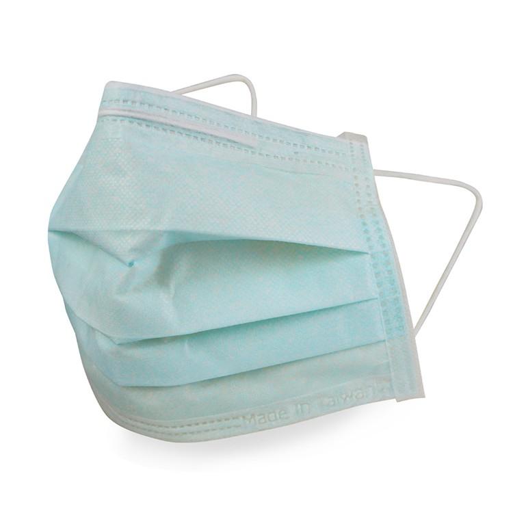 """格安德 台灣製造口罩國家隊""""雙鋼印""""醫療級成人平面口罩藍色"""