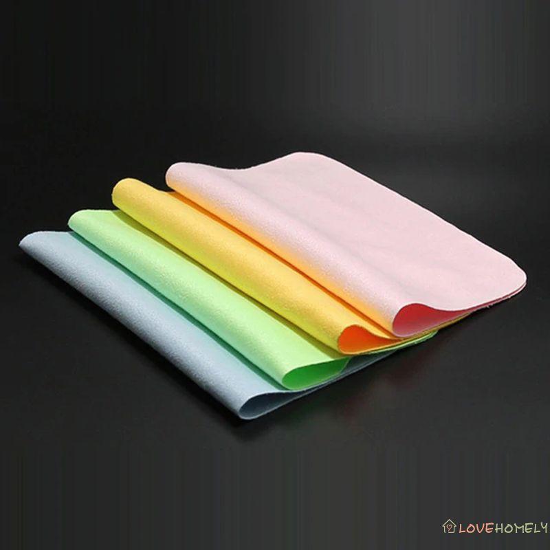 高品質 Chamois 眼鏡清潔劑超細纖維眼鏡清潔布, 用於鏡片電話屏幕清潔濕巾